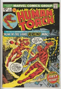 Human Torch #1 (Sep-74) FN Mid-Grade Human Torch