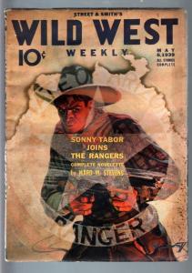 WILD WEST WEEKLY 5/6/1939-WESTERN PULP-SONNY TABOR FR/G