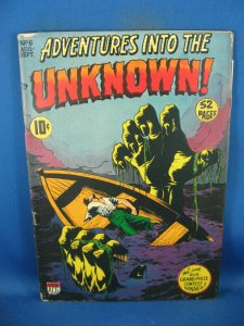 ADVENTURES INTO THE UNKNOWN 6 VG+ ACG 1949 SCARCE