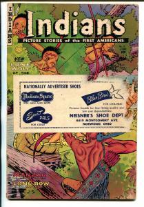 Indians #12 1952-Fiction House-Long Bow-Manzar-shoe store promo item-G