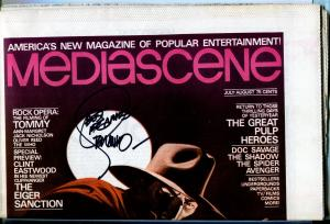 Mediascene #17 1/1976-signed by Steranko Shadow cover-Proof copy-unopened-VF+