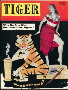Tiger #2 10/1956-Reynard-June Blair-Billy Mitchell-cheesecake-pin-ups-VF