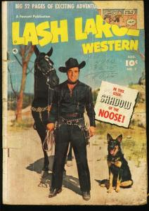 LASH LARUE WESTERN #7-1950-GOLDEN AGE WESTERN FR/G
