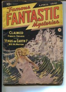 Famous Fantastic Mysteries-Pulp-4/1941-William McMorrow-Francis Steven