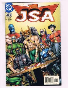 JSA #26 VF DC Comics The Return Of Hawkman Comic Book Johns 2001 DE12