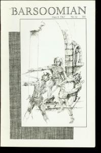BARSOOMIAN #12-MARCH 1967-EDGAR RICE BURROUGHS FANZINE VF