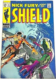 NICK FURY, AGENT OF SHIELD#11 VF 1969 MARVEL SILVER AGE COMICS