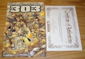 303 Preview #1 VF/NM signed by jacen burrows w/COA (limited to 600) garth ennis