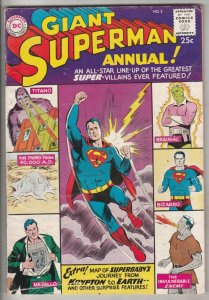 Superman Giant Annual #2 (Jan-60) VG/FN+ Mid-Grade Superman, Jimmy Olsen,Lois...