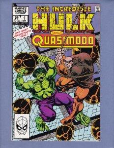 Incredible Hulk vs Quasimodo #1 VF/NM Marvel 1983