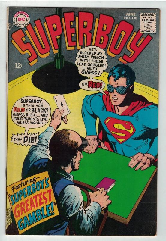 SUPERBOY 148 VG NEAL ADAMS COVER JUNE 1968
