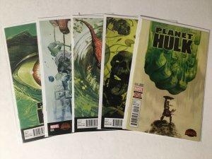 Planet Hulk 1-5 1 2 3 4 5 Lot Issue 1 Is Second Print Nm Near Mint Marvel