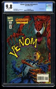 Venom: Carnage Unleashed #1 CGC NM/M 9.8 White Pages