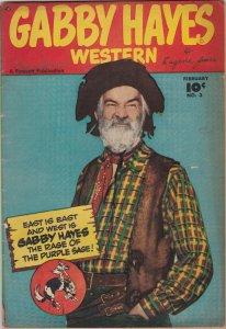 Gabby Hayes Western 3 VG-  (Feb. 1949)