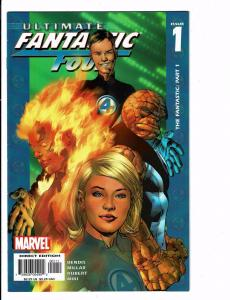 Lot of 6 Ultimate Fantastic Four Marvel Comic Books #1 3 4 5 6 7 BH28