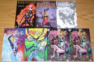NightVision #1-4 VF/NM complete series + one-shot + all about eve + signed & num