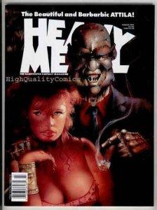 HEAVY METAL March 1991, VF/NM, Attila, Kuper, Geary, Cat, 1977, Magazine