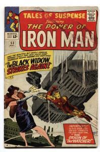 Tales Of Suspense #53 2nd Black Widow-Iron Man FN comic book 1964-