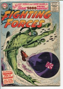 OUR FIGHTING FORCES #15-1956-DC-SILVER AGE-FROGMAN COVER-HEATH-KUBERT-vg