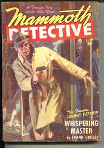 Mammoth Detective  7/1947-Ziff-Davis-hard boiled crime pulp-Frank Gruber-VG-