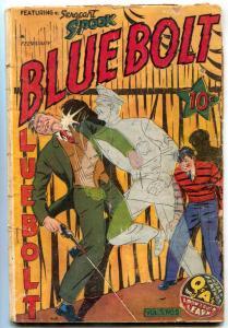 Blue Bolt Vol 5 #5 1944- Sgt Spook cover- flamethrower G