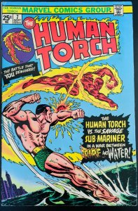 THE HUMAN TORCH #7 VS SUB MARINER!! 1975! Awesome Vintage Book!