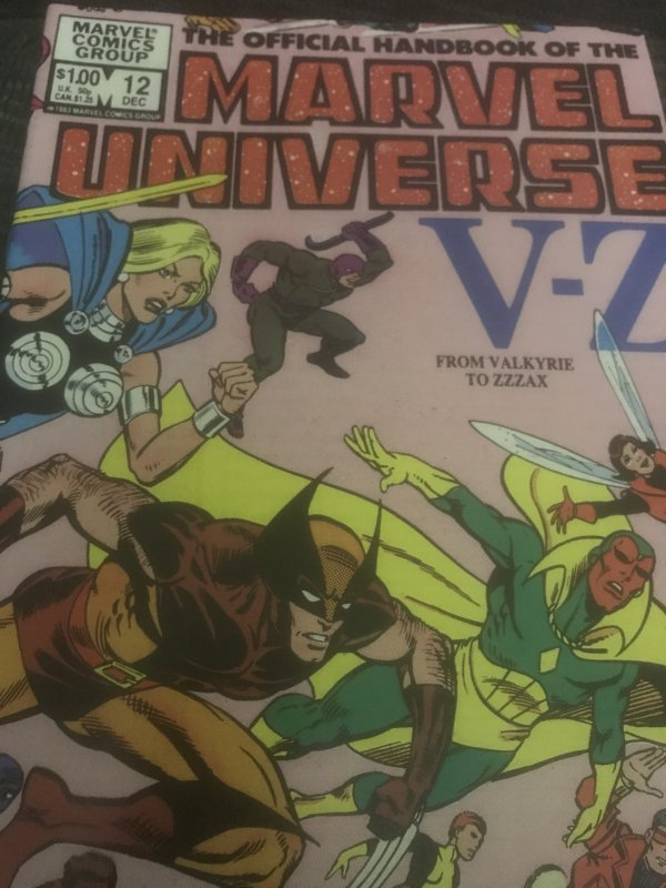 Marvel Marvel Universe The Official Handbook #12 Mint Rare