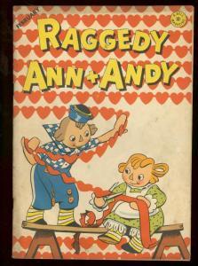 RAGGEDY ANN + ANDY #9 1947 DELL VALENTINE ISSUE KELLY FN-