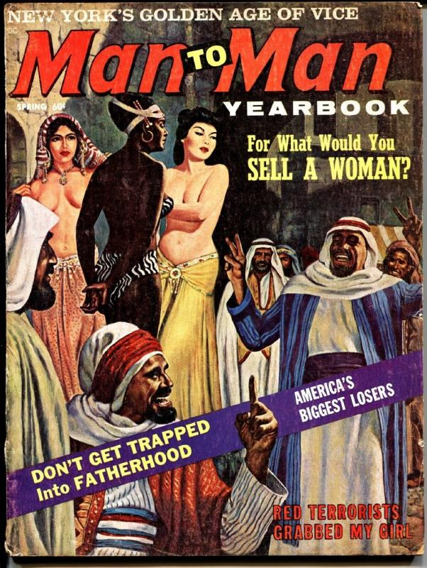 MAN TO MAN YEARBOOK 1963 Femle slave auction cover art! exploitation pulp