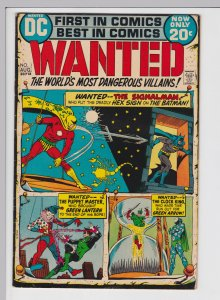 Wanted the World's Most Dangerous Villians #1 (Aug 1972) FN DC