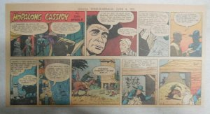 Hopalong Cassidy Sunday Page by Dan Spiegle from 6/8/1952 Size 7.5 x 15 inches