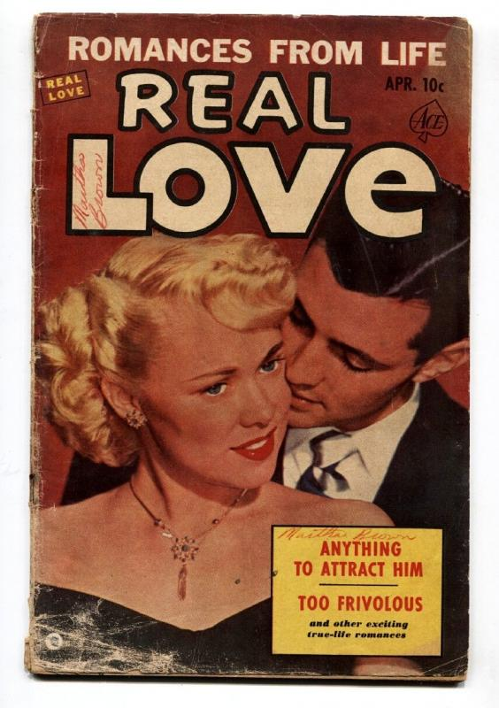 Real Love #54 1953 G-Ace-photo cover-spicy romance-Anything to Attract Him