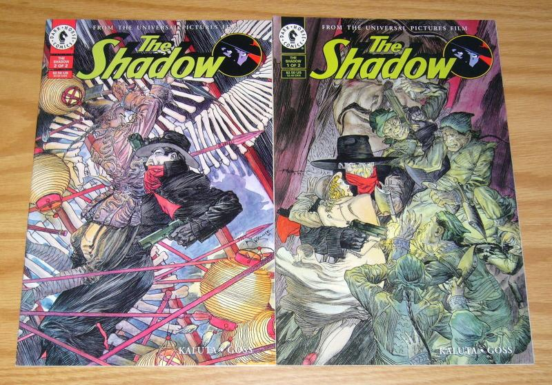 the Shadow #1-2 VF/NM complete series adapts the movie - mike kaluta set lot