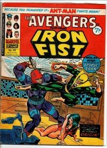 Avengers #58 - Dr Strange - Marvel UK - Magazine Size - 7p - 1974 - FN