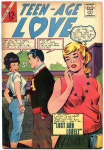 TEEN-AGE LOVE #38 1964-CHARLTON ROMANCE-HEADLIGHT COVER FN
