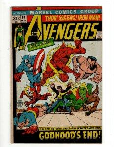 Avengers # 97 FN- Marvel Comic Book Hulk Thor Captain America Iron Man OF2