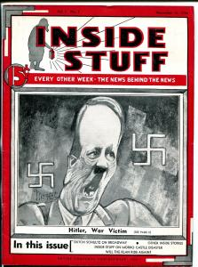 Inside Stuff #1 11/16/1934-pre WWII-Hitler, War Victim-KKK-Mozert art-VF