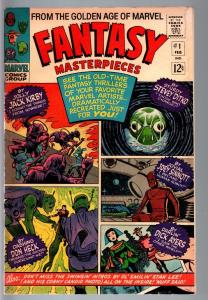 FANTASY MASTERPIECES #1-1966-STAN LEE PHOTO-ROBOTS-DON HECK-JACK KIRBY VG