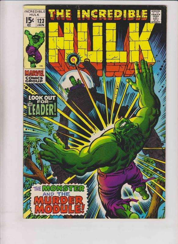 Incredible Hulk #123 FN roy thomas - herb trimpe - the leader  bronze age marvel