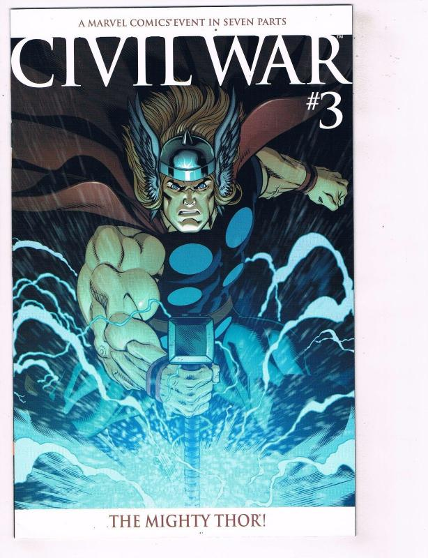 Civil War # 3 NM McNiven Thor Variant Marvel Comic Book Spider-Man Avengers J63