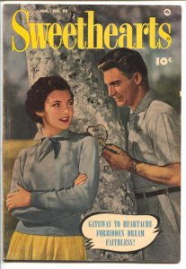 Sweethearts #95 1951- Golden Age Romance- photo cover-Good Girl Art-spicy pan...