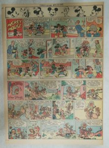 Mickey Mouse Sunday Page by Walt Disney from 4/29/1945 Tabloid Page Size