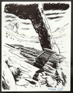 Spin A Web Of Death Nick Cuti Original Art-2000-page 164 illustration-FN