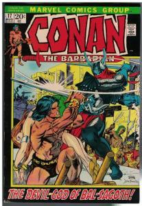 CONAN THE BARBARIAN 17 VG Aug. 1972 GIL KANE