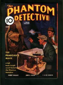 PHANTOM DETECTIVE AUG 1935 PULP REPRINT-PHARAOHS MARK-ADVENTURE HOUSE VF/NM