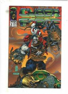 Cyberforce #3 VF/NM 9.0 Image Comics 1992 Marc Silvestri, vs. Pitt