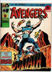 Avengers #92 - Goliath - Marvel UK - Magazine Size - 8p - 1975 - FN/VF