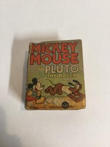 Mickey Mouse And Pluto The Racer Fr Fair Little Big Book 1128 Looks Complete
