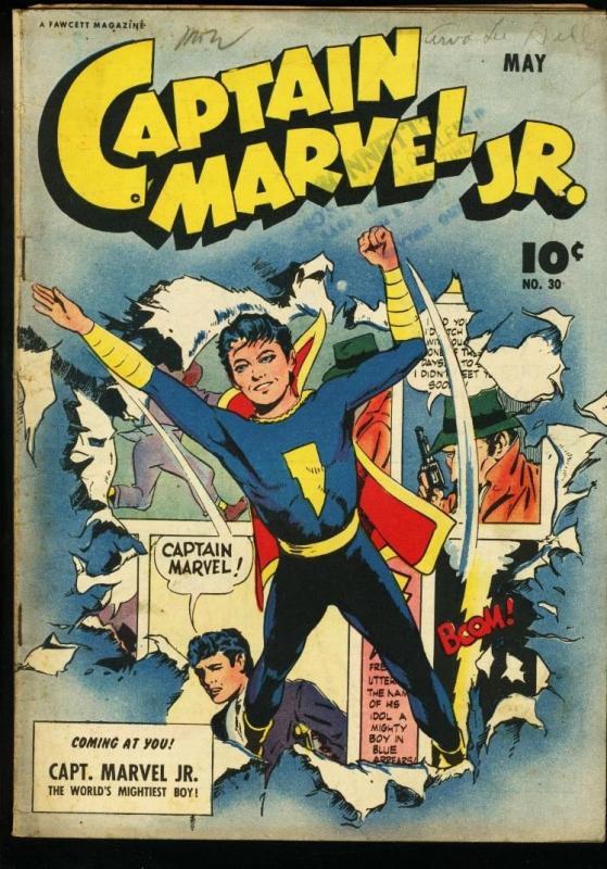 CAPTAIN MARVEL JR. #30-FAWCETT VG