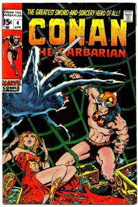 CONAN the BARBARIAN #4 (April1971)  6.0 FN  'Tower of the Elephant' Classic!